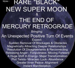 """Rare """"Black"""" New Super Moon"""