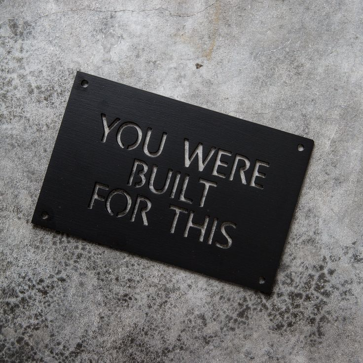 You Are Built for This